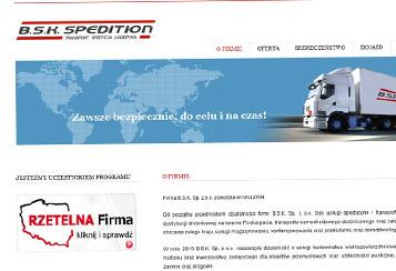 Transport krajowy i międzynarodowy BSK SPEDITION Sp. z o.o.