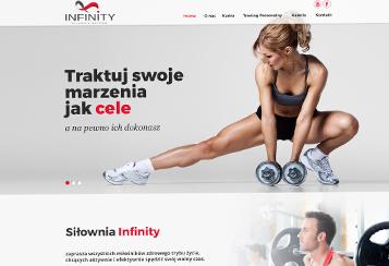 Responsywna strona www dla siłowni