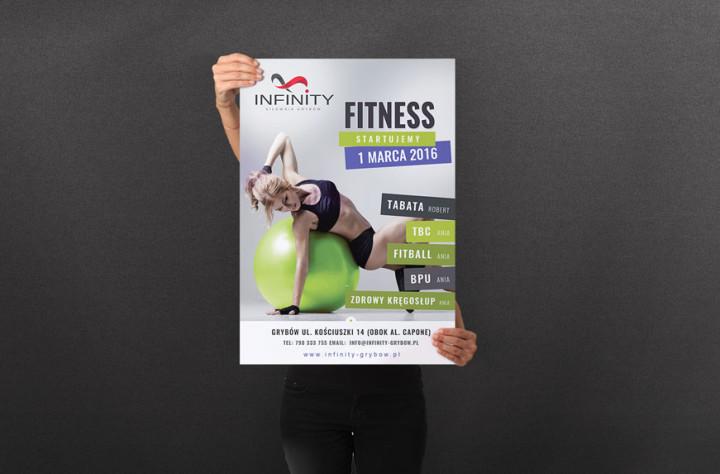 Plakat dla klubu fitness Infinity