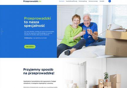 Strona internetowa dla firmy przeprowadzkowej.