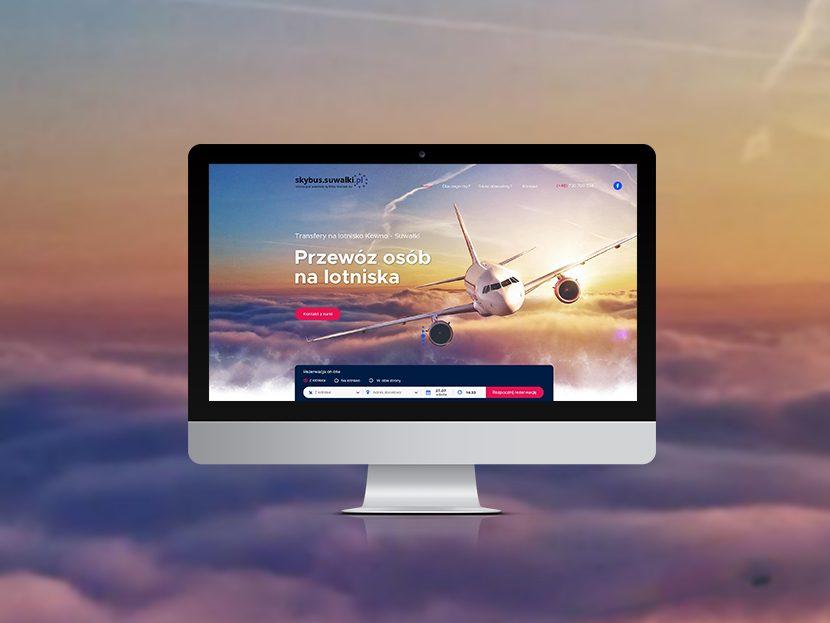 Strona dla firmy oferującej transfery na lotniska
